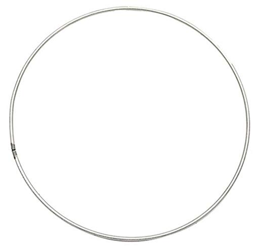 Cratone Silber Metallringe Kranz 25cm/30cm/40cm/50cm Floral Hoop, Metall Hoops für DIY Handwerk Traumfänger Dreamcatcher Floristik Ring