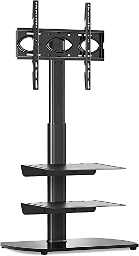 BNFD Cantilever TV Stand Floor Swivel with 3 Shelves...