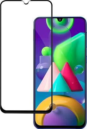 MOBIRUSH Samsung Galaxy M21 Edge to Edge || Full Gum || Full Glue || Gorilla Tempered Glass Guard for Samsung Galaxy M21 - Black