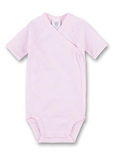 Sanetta Body portefeuille rayé à manches courtes bébé, rose