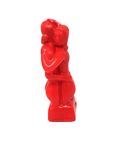 CircuitOffice Red 5.75 Inch Lovers Adam and Eve Couple Candle Love Ritual Fall in Love with Me Spell