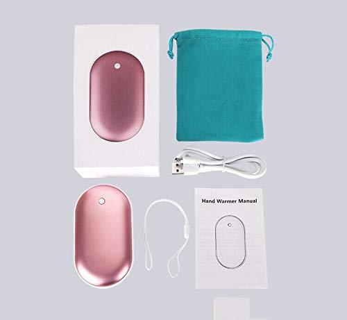 Carriea 5200MAH Power Bank Chauffe-Mains fiable Rechargeable Chauffe-Mains instantané et Plus Grande capacité Chargeur USB Portable