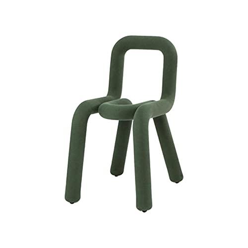 HYDT Sillas de cocina y comedor con, sillas de comedor modernas tela de terciopelo y silla geométrica suave patio elegante (verde)