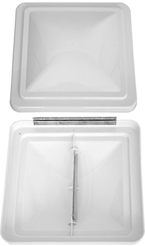 Cynder 02030 2 Pack 14 Inch RV Roof Vent Cover Universal Replacement Vent Lid White for Camper Trailer Motorhome Ventline Elixir