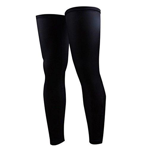 LovelyLifeAST Beinwärmer, für Erwachsene, für den Sport, Fahrradfahren, Schwarz, Sonnenschutz, UV-Schutz, Schwarz, Größe M
