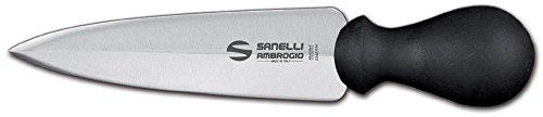 Sanelli Ambrogio S206.015 Ambrogio Sanelli-Supra-Coltello Lancia Milano, Ideale per Grana e Parmigiano. Manico Ergonomico in Polipropilene. Lama: Liscia, in Acciaio Inox. Cm: 15, Stainless Steel
