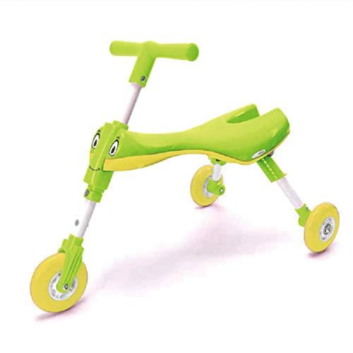 SZNWJ ygqtbc Walker-3 Ruedas Scooter niño de los niños de Plegado for niños y niñas - bebés y niños Juguetes Tres Alturas (Color : B)