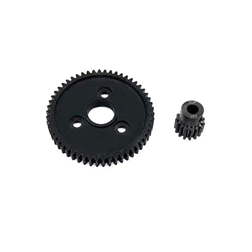 Durable Metall Spur Gear 54T + 15T/17T/19T 32P Motorritzel Hardware Werkzeug Getriebe