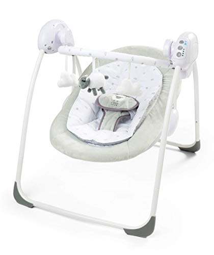 just 4 baby Deluxe Foldable Bouncer Little Lamb Bear First Swing Soothing Music and Toys 0m+ 079, Grey