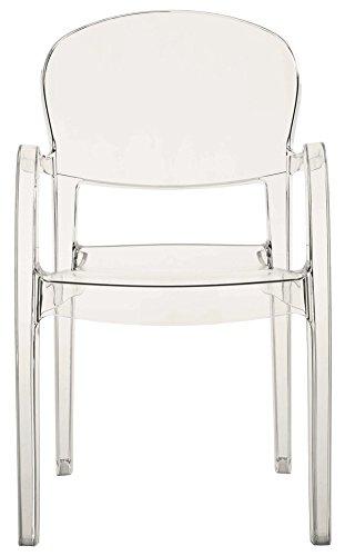Grandsoleil upon Joker trasparente sedia impilabile, policarbonato, trasparente, 54x 55x 89cm