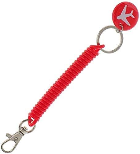 jouet LF Ressort hélicoïdal Spirale Porte-clé rétractable theftproof Bracelet Extensible Anneau Keychain Porte-clés Bracelet Corde Apprendre (Color : Red)