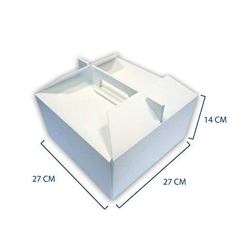 Unidades 10Caja térmica cm 27x 27Alta cm 14para Llevar de Tarta Helado y repostería de poliestireno Part Cake Box Caja térmica