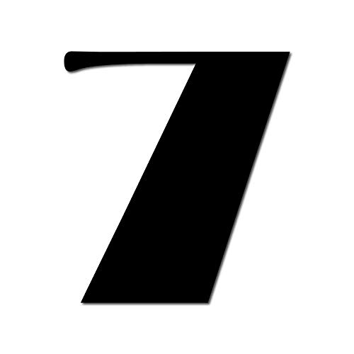 House Number 7 Broadway Door Numbers in 3 Sizes (15, 20, 25cm / 5.9, 7.8, 9.8in) Modern Floating House Number Acrylic incl. Fixings, Colour:Black, Size:20cm / 7.9'' / 200mm