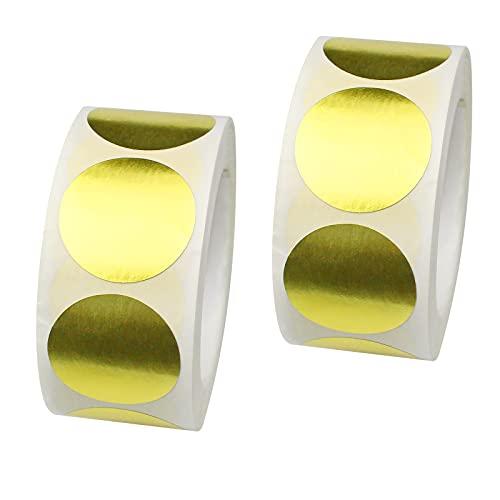 milaosk 1000 Piezas Etiquetas Adhesivas Oro Pegatinas Circulares 1 Pulgadas Etiquetas de Puntos Brillantes ellos Pegatinas...