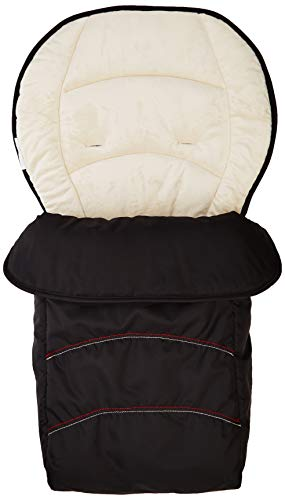 Hauck 2 Way Cosytoe Snuggly Footmuff for Pushchair Baby Stroller All Weather Protection, Black Beige