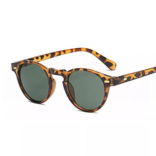 TYOLOMZ Gafas de Sol para Hombre al Aire Libre, Remaches Redondos, Gafas de Sol para Mujer, Gafas de Sol para Conducir, Mujer