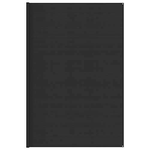 vidaXL Tapis de Tente Tapis de Voyage de Camping Tapis de Patio Auvent de Caravane Extérieur Résistance aux Intempéries 400x600 cm Anthracite
