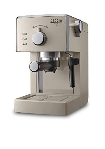 Gaggia Viva Chic Cappuccino - Máquina de café expreso manual para molido y monodosis, RI8433/14