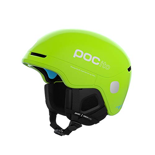 POC Unisex-Youth POCito Obex Spin Helm, Fluorescent Yellow/Green, MLG