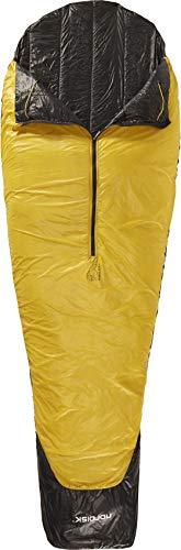 Nordisk - Oscar Schlafsack, Leichter Kunstfaser-Schlafsack mit kleinem Packmaß, weiterer Mumienschlafsack, Grösse L, 10 Grad, Gelb