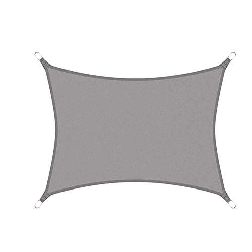 Liabb Rectangle Sonnensegel Wasserdicht Oxford Fabric Garten Canopy Schwimmen Sonnenschutz Camping Markisen-4x6m Gray