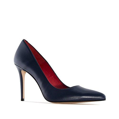 Andres Machado.Diana.Zapato Tacón de Piel de Mujer.Tallas Pequeñas y Grandes 32-35/42-45.Made IN Spain
