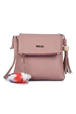 GLOSSY PU Sling Bag For Girls/Women - Pink