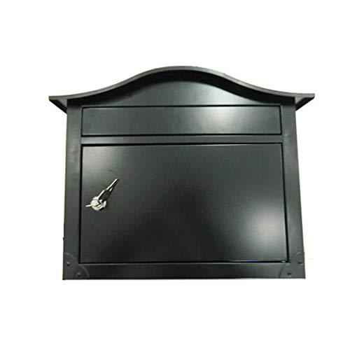 AOYO grote buiten buitenste staal muur mount postbus verticale post doos met slot op deur brievenbus postslot postbus