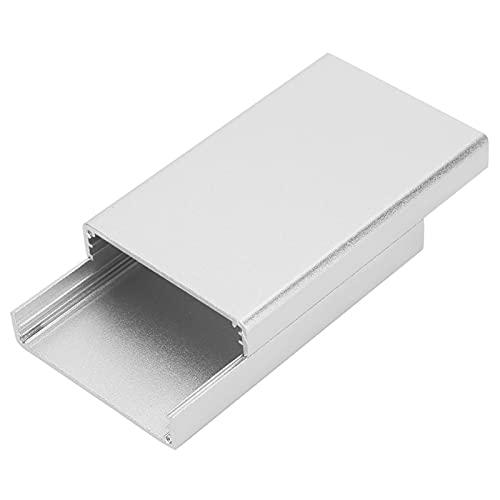 Aluminiumgehäuse, PCB-Instrumentengehäuse, elektronische Kühlbox, geteilte Leiterplattenschale, Leiterplattenschallwand halten, für elektronische Produkte, Silber 20 * 50 * 80 mm