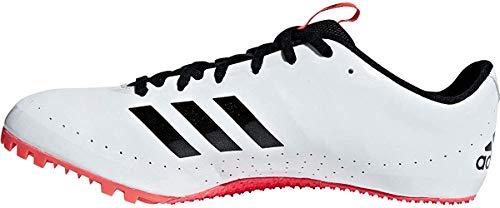 adidas Sprintstar, Scarpe da Atletica Leggera Uomo, Multicolore (Ftwr White/Core Black/Shock Red B37503), 44 2/3 EU