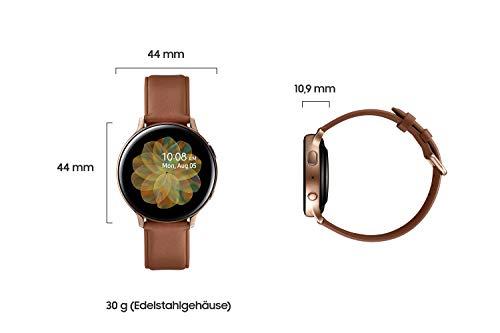Samsung Galaxy Watch Active2, Fitnesstracker aus Edelstahl, großes Display, ausdauernder Akku, wassergeschützt, 44 mm, Bluetooth, Gold