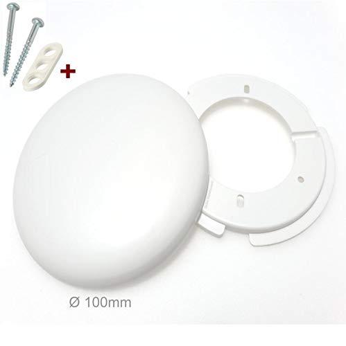 4x Lampen Abzweigdosen, Verteilerdose, weiß Ø 100, superflach mit Montageset