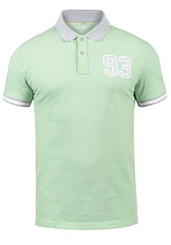Blend Gregor Herren Poloshirt Polohemd T-Shirt Shirt Mit Polokragen Aus 100% Baumwolle, Größe:L, Farbe:Foam Green (77206)