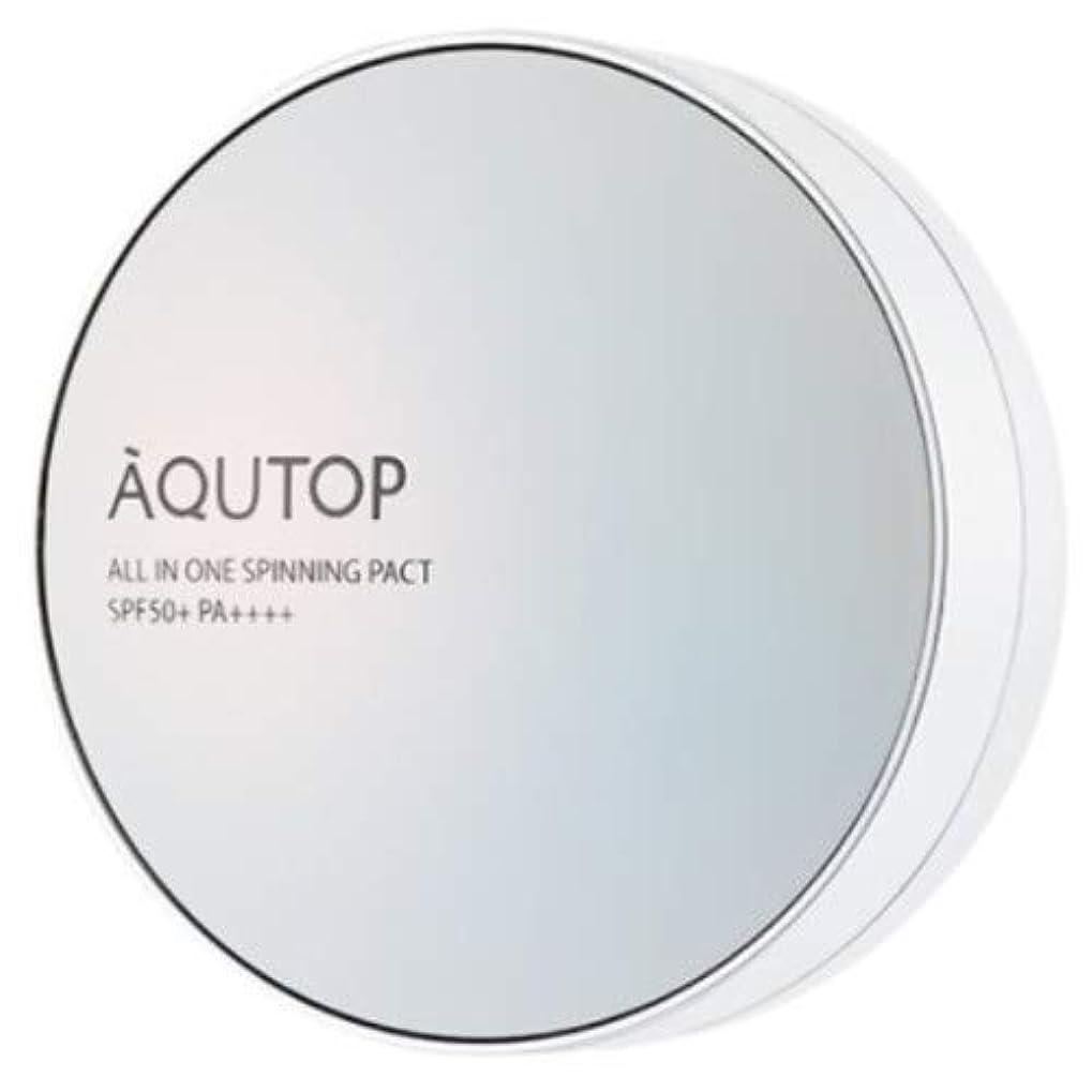 苦楽しむ洗剤[AQUTOP] アクタップオールインワンスピニングファクト SPF 50+ PA ++++ / AQUTOP ALL IN ONE SPINNING PACT [並行輸入品] (21号 ライトベージュ)