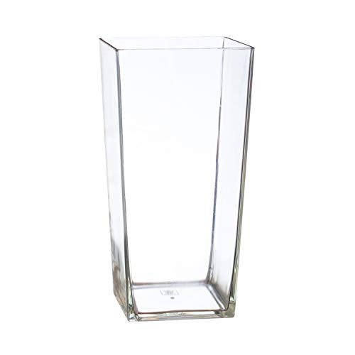 Royal Imports Flower Vase Acrylic Square Tapered Decorative Centerpiece for Home or Wedding - Non Breakable Plastic, 5