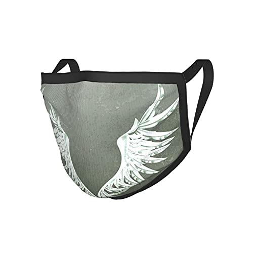 Grunge Home Decor Old-Fashion - Máscara de tela con diseño de escudo de armas en la parte delantera de la pared sucia agrietada, diseño de insignia real, color gris, blanco y negro