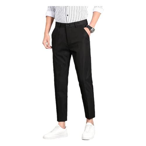 Huntrly Pantalones Casuales para Hombre Pantalones Formales para viajeros de Negocios Primavera y otoño Pantalones Casuales de Pierna Recta Delgados 34
