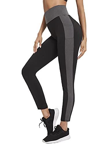 Sykooria Leggins Deportivos Mujer, Leggings Push Up Mujer Mallas Pantalones Deportivos de Yoga de Suaves Elásticos Cintura Alta con Bolsillos para Gimnasio Mujer Jogging Correr Escalada Yoga