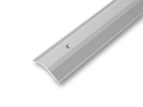 (7,12€/m) Ausgleichsprofil 45 x 900 mm gebohrt | Rampenprofil | Übergangsprofil | Anpassungsprofil | Höhenausgleichsprofil | flexibel - Höhenausgleich von 2-20 mm (900 mm, silber)