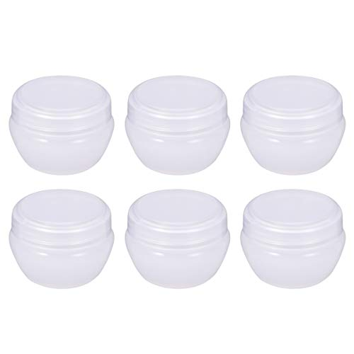 Frcolor Pot de crème de 20 boîtes de champignons de Vase de Gram avec couvercle scellé pour cosmétiques, crèmes, lotions, huiles essentielles 12 Pack