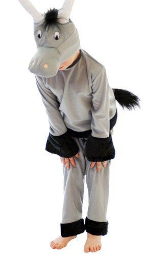 Henbrandt Disfraz de Burro para niños de tamaño Mediano, de 7 a 9 años