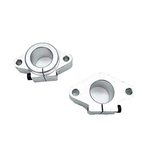 Fltaheroo Wellenhalterung XYZ-Tisch Lineare Stangenschiene Wellenhalterung XYZ-Tisch-CNC-FrrSer (SHF 25,25 Mm Innendurchmesser, 2 StüCk)