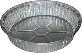 Disposable Aluminum Foil Pans, 9 Inch Round, Pack Of 50
