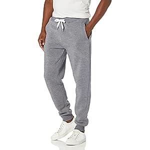 Southpole Men's Active Basic Jogger Fleece Pants, Heather Grey, X-Large