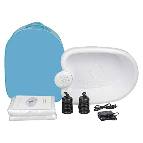 Ionic Detox Foot Bath - Detox Foot Spa, Ionic Foot Bath Detox Machine Chi Cleanse with Tub Basin for Holiday Travel Home Use Salon Beauty Club or As Gift with Blue Bag