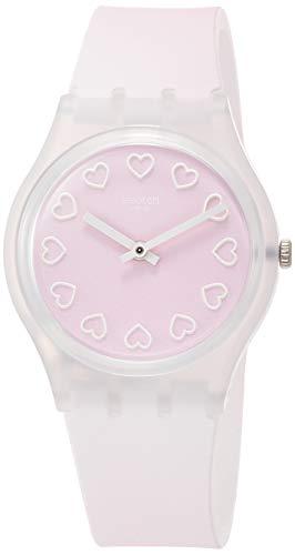 Swatch Reloj Analógico para Mujer de Cuarzo con Correa en Silicona GE273