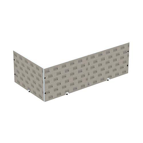 LUX ELEMENTS Top-TRS 1830/900 LTOPE5002 - Revestimiento para bañera (instalación en esquina, listo para enlosar), color gris