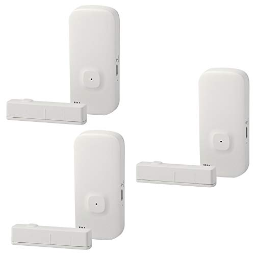 OWSOO 2PCS WiFi-Türsensor Tuya APP-Türfenster öffnen Sicherheitsalarmsensor Magnetschalter Drahtloser Detektor...