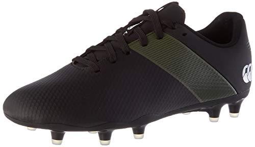 Canterbury Men's Phoenix 3.0 Firm Ground Rugby Shoe, Black/Deep Lichen Green/White, 6 UK