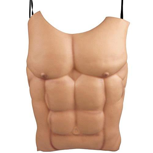 Uteruik Fake männliche Muskeln Brust Haut Lebensgröße Lustige Körperteile für Halloween Maskerade Party Kostüm Kleid Indoor Outdoor Prop und Cosplay Dekoration, 1 Stück (r-#12)
